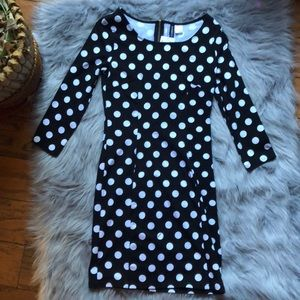 H&M Divided polka dot bodycon dress